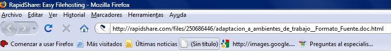 Imagen de Mozilla FireFox. En Internet Explorer se realiza igual.